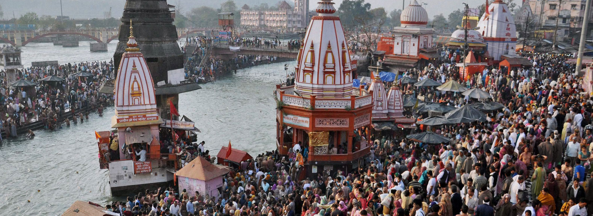 Mahashivratri in India near the Ganges
